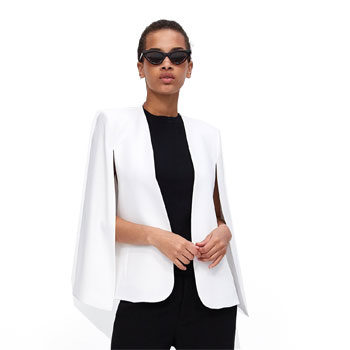 work wear cape blazer