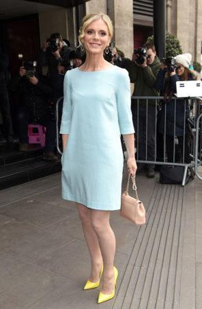 Emilia Fox in a shift dress