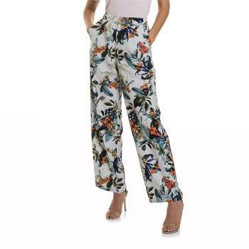Emilia Fox wide leg trouser look