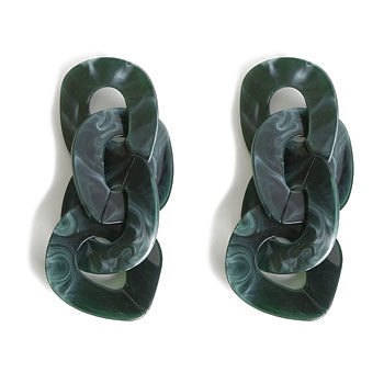 budget forest green earrings