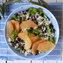 Pink Grapefruit, Black Bean and Rice Salad Recipe
