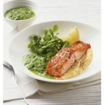 Grilled Salmon With Watercress Sauce And Creamy Mash Recipe