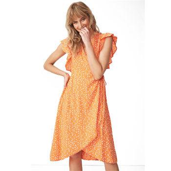 budget high low wrap dress