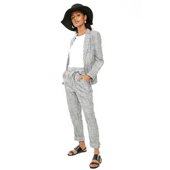 co-ords stripe fashion trend linen suit