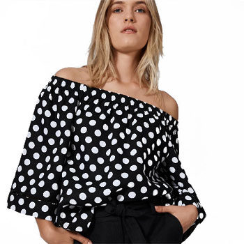 polka dot fashion trend blouse