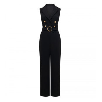 work wear sleeveless jumpsuit