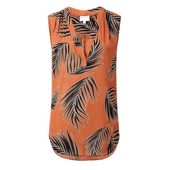 work wear sleeveless printed blouse