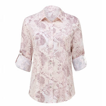 work wear snake print shirt