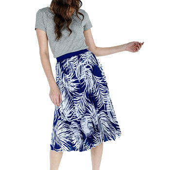 work wear tropical printed skirt
