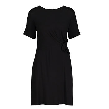 work wear black waist detail dress