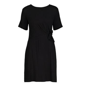 work wear black waist detail dress