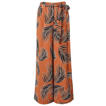 work wear wide leg printed trouser