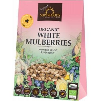 Organic white mulberries