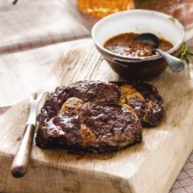 Rib-Eye Steaks with Smoky Barbecue Sauce Recipe