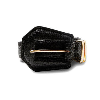 black and gold textured belt inspired by new york fashion week