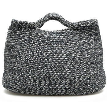 monochrome tweed handbag