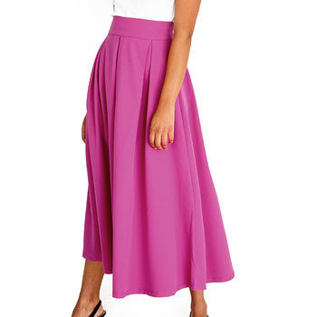 cerise pink skirt inspired by new york fashion week
