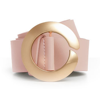 blush pink belt seen at new york fashion week
