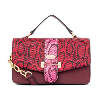 mixed coloured snake printed bag inspired by new york fashion week