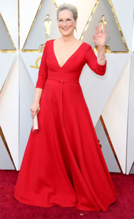 Meryl Streep at the Oscars in 2018