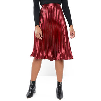 metallic skirt for valentine's day