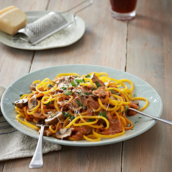 butternut spaghetti and mushrooms