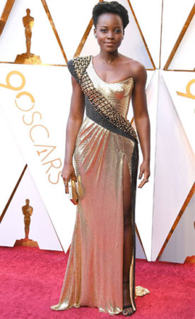 Lupita Nyong'o at the oscars in 2018