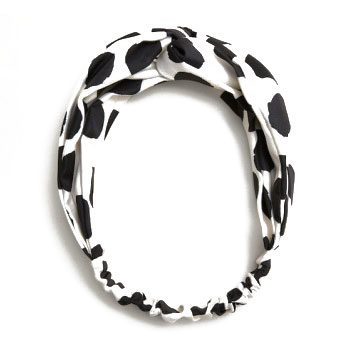 monochrome polka dot headband