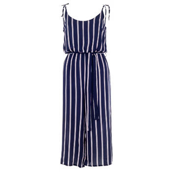 stripe loose fitted flattering jumpsuit