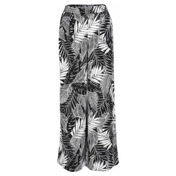 monochrome tropical print pants