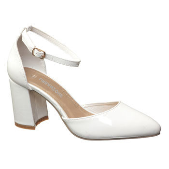 white block heel inspired by new york fashion week