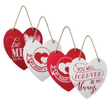Valentine's day wooden plaque gift