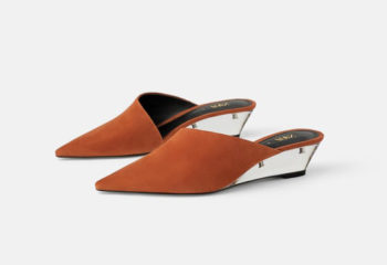 Leather Slip-on's with Methacrylate Heel