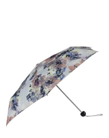 Watercolour print compact umbrella