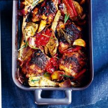 Mustard Chicken with Roasted Vegetables Recipe