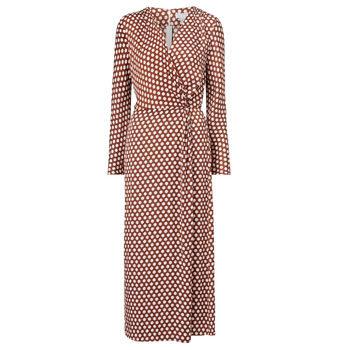 polka dot trend printed wrap dress