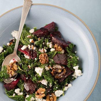 beetroot, kale and feta salad