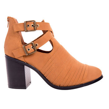 buckle detail ankle boot