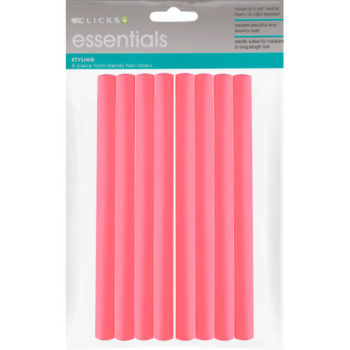 Essentials Bendy Roller Set Pink 8 Pack