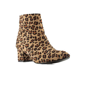 leopard printed ankle boots
