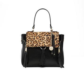 leopard print trend handbag