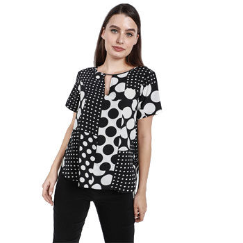 polka dot printed trend blouse