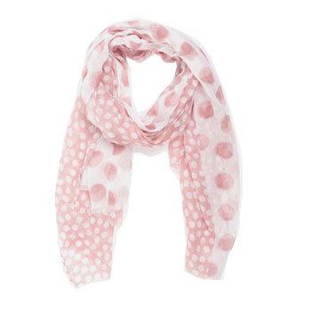 multi dot print trend scarf