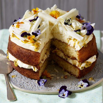 White Chocolate Cake with Passion Fruit
