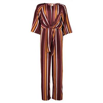 retro stripe print trend jumpsuit