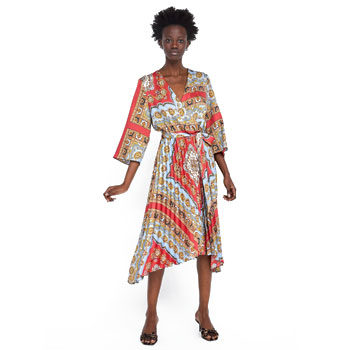 scarf print trend dress