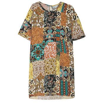 scarf print trend tunic