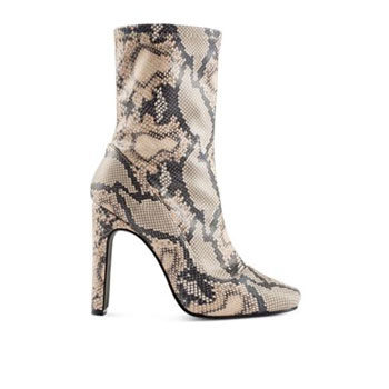 snakeskin ankle boot