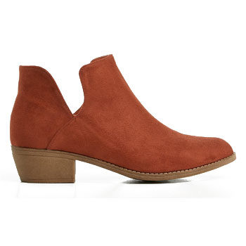 cut out suede ankle boot