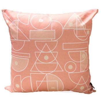 coral scatter cushion